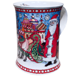 Bild von Dunoon Cotswold It's Christmas Santa With Snowflakes