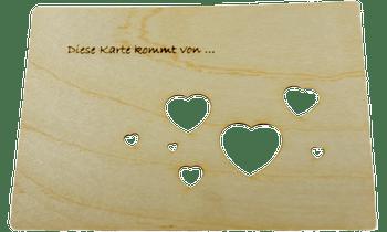 """Bild von Finkbeiner - Grußkarte """"Herzen"""""""
