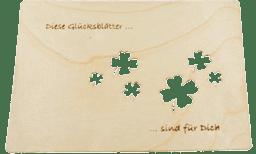 """Bild von Finkbeiner - Grußkarte """"Kleeblatt"""""""