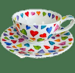 Bild von Dunoon Tea Cup & Saucer Set Warm Hearts