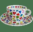 Bild von Breakfast Cup & Saucer Set Warm Hearts, Bild 1