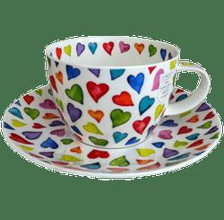 Bild von Breakfast Cup & Saucer Set Warm Hearts