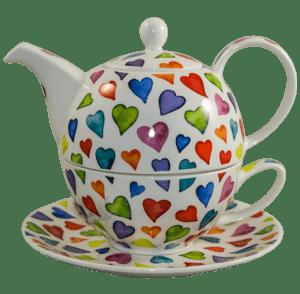 Bild von Dunoon Tea for one set Warm Hearts