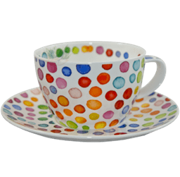 Bild von Dunoon Breakfast Cup & Saucer Set Hot Spots
