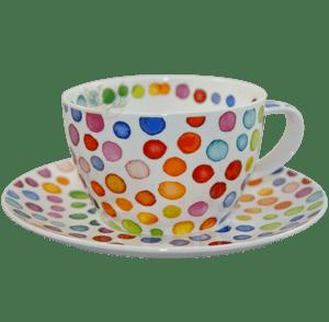 Bild von Dunoon Breakfast Cup & Saucer Set Hot Spots