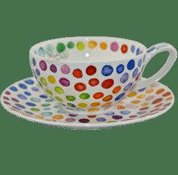 Bild von Dunoon Tea Cup & Saucer Set Hot Spots