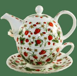 Bild von Dunoon Tea for one set Dovedale Strawberry