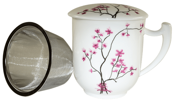 Bild von Kräuterteetasse Kirschblüte