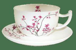 Bild von TeaLogic Cherry Blossom 500 ml Jumbo Tasse mit Untertasse