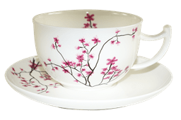 Bild von TeaLogic Cherry Blossom 300 ml Jumbo Tasse mit Untertasse