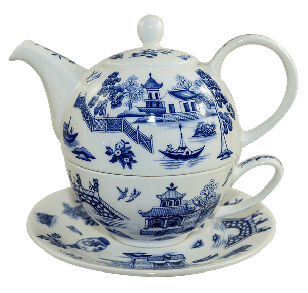 Bild von Dunoon Tea for one set Oriental Blue