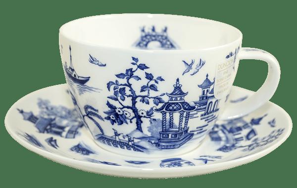 Bild von Dunoon Breakfast Cup & Saucer Set Oriental Blue