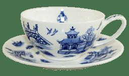 Bild von Dunoon Tea Cup & Saucer Set Oriental Blue