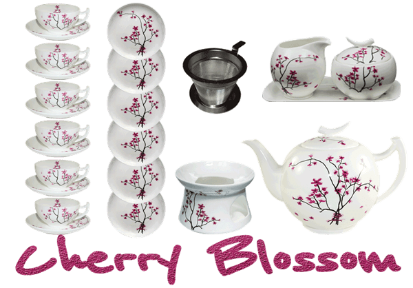 Bild von Teeservice Cherry Blossom von TeaLogic Large