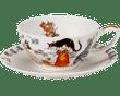 Bild von Dunoon Tea Cup & Saucer Set Pusy Galore