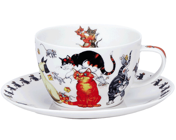 Bild von Breakfast Cup & Saucer Set Pusy Galore