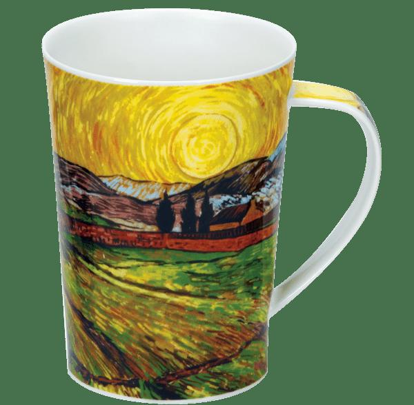 Bild von Dunoon Argyll Impressionist Landscapes Enclosed Field with Rising Sun