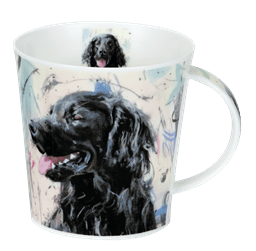 Bild von Dunoon Cairngorm Dogs on Canvas Flat Coated Retriever