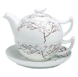Bild von Tea for One Set White Cherry