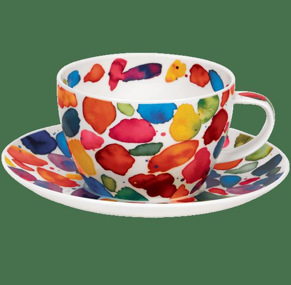 Bild von Breakfast Cup & Saucer Set Blobs