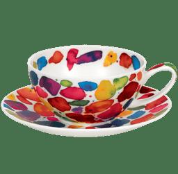 Bild von Dunoon Tea Cup & Saucer Set Blobs
