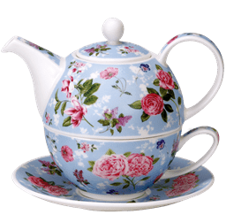 Bild von Dunoon Tea for one set Fleurs