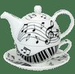 Bild von Dunoon Tea for one set Ebony and Ivory, Bild 1