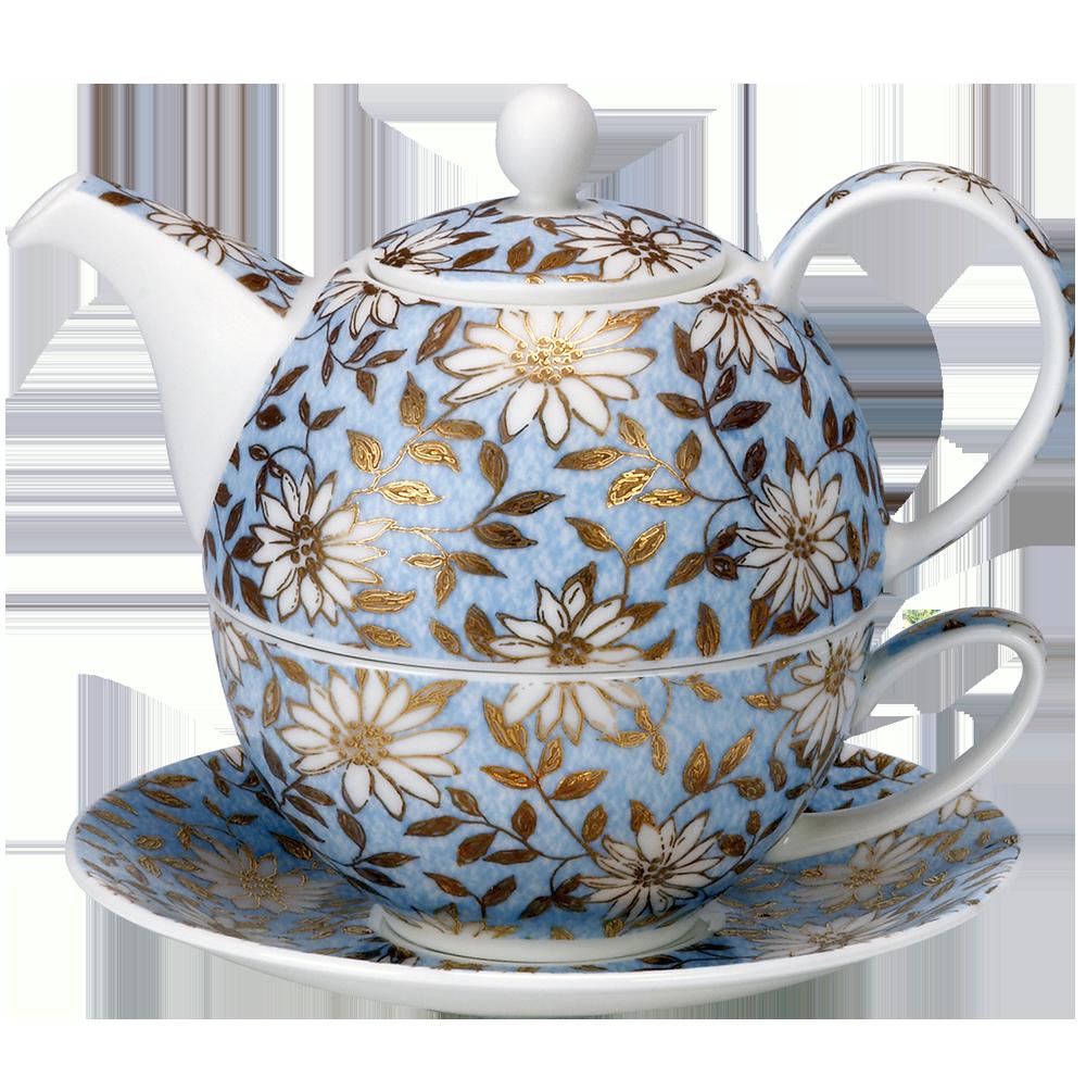 dunoon tea for one set aqua. Black Bedroom Furniture Sets. Home Design Ideas