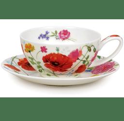Bild von Dunoon Tea Cup & Saucer Set Wild Garden
