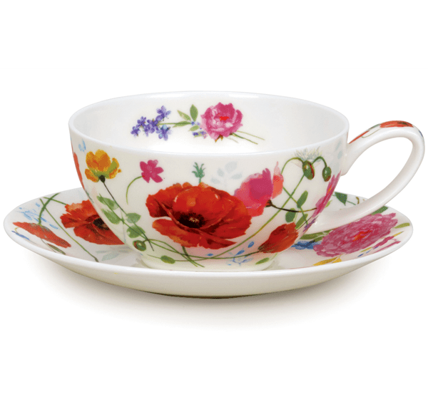 Bild von Tea Cup & Saucer Set Wild Garden