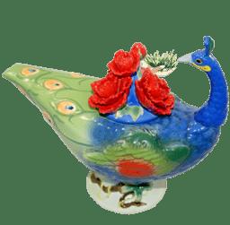 """Bild von Manufaktur Teekanne Porzellan """"Pfau 2"""" Jameson & Tailor"""