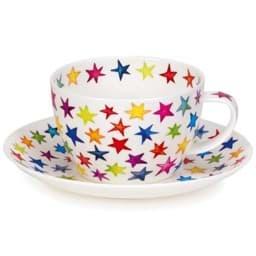 Bild von Dunoon Breakfast Cup & Saucer Set Starburst