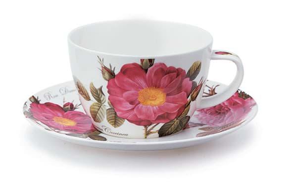 Bild von Dunoon Breakfast Cup & Saucer Blenheim Damascena