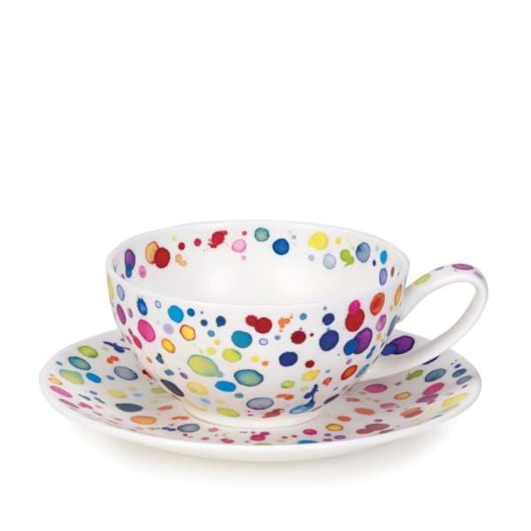 Bild von Dunoon Tea Cup & Saucer Set Splat