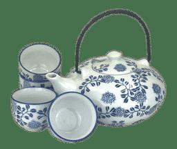 Bild von Asiatische Tee-Set blau-weiß
