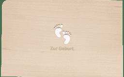 """Bild von Holzpost - Grußkarte """"Zur Geburt"""""""