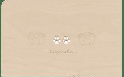 """Bild von Holzpost - Grußkarte """"Kuscheln"""""""