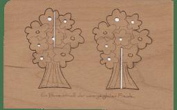 """Bild von Holzpost - Grußkarte """"Blumenstrauß"""""""